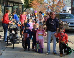 Children participate in the 2012 Halloween Fest on Main Street in Norway.